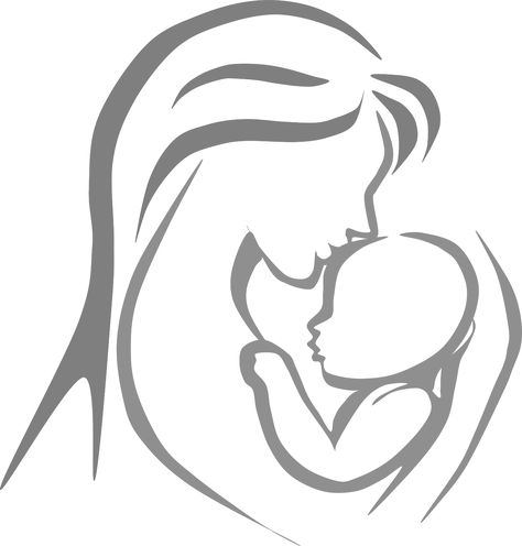 Free black and white clipart mother and child. Pinterest