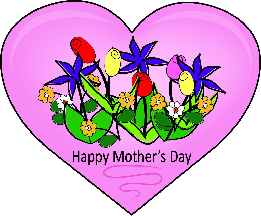 Clipart of mothers day hearts clip black and white download Inspirational Mother's Day Clipart clip black and white download