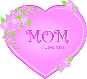 Clipart of mothers day hearts svg royalty free library Mothers Day Clipart Image - Clip Art Illustration of a Pink Heart With svg royalty free library