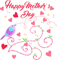 Clipart of mothers day hearts vector black and white library Free Mothers Day Clipart - Clip Art Pictures - Graphics ... vector black and white library