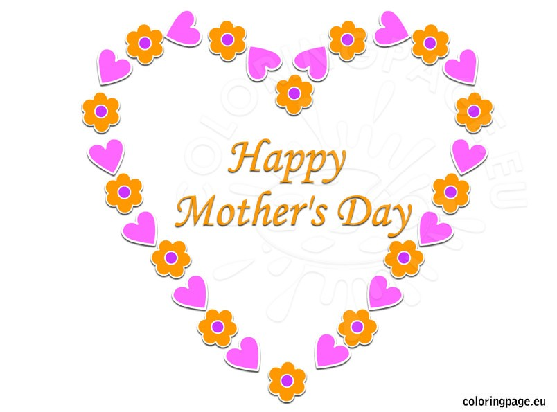 Clipart of mothers day hearts. Happy mother s and
