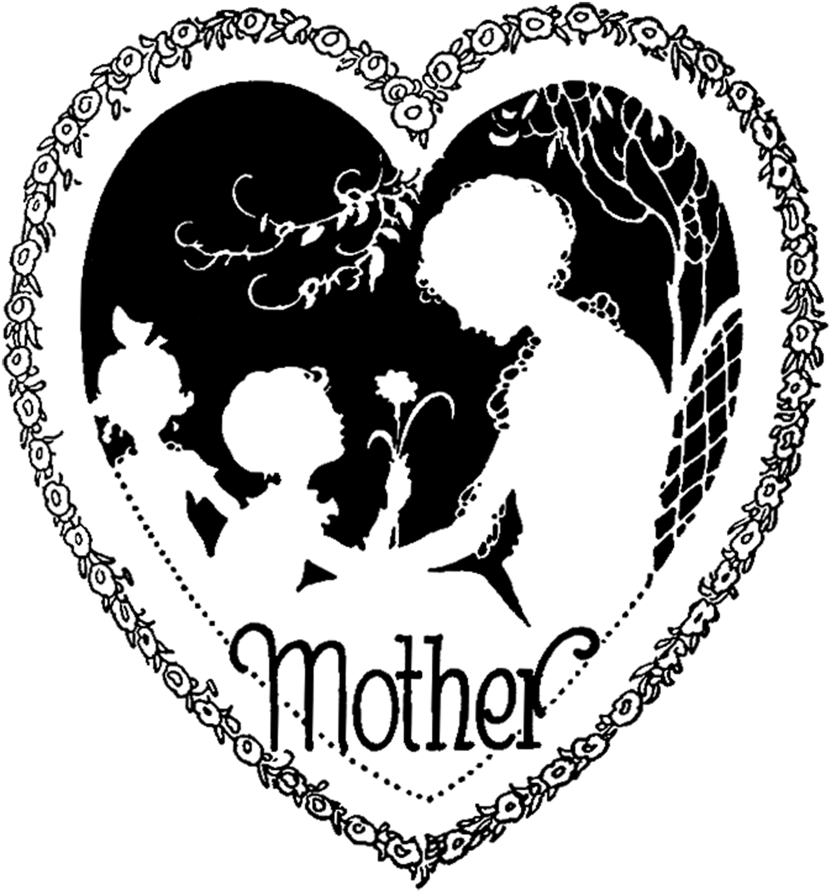 Clipart of mothers day hearts banner freeuse library Clipart of mothers day hearts - ClipartFest banner freeuse library