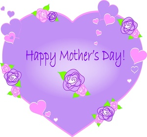 Clipart of mothers day hearts clip art transparent Mother's Day Heart Clipart - Clipart Kid clip art transparent