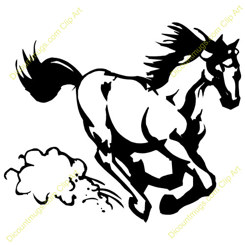 Clipart of mustang png black and white stock Mustang Clip Art Horse | Clipart Panda - Free Clipart Images png black and white stock