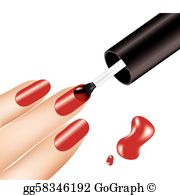 Manicures clipart clip art library Nail Polish Clip Art - Royalty Free - GoGraph clip art library