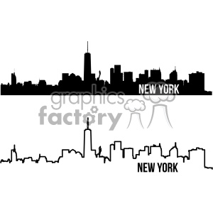 New york city illustration clipart clip art transparent stock new york city skyline vector art outline and fill clipart. Royalty-free  clipart # 402330 clip art transparent stock