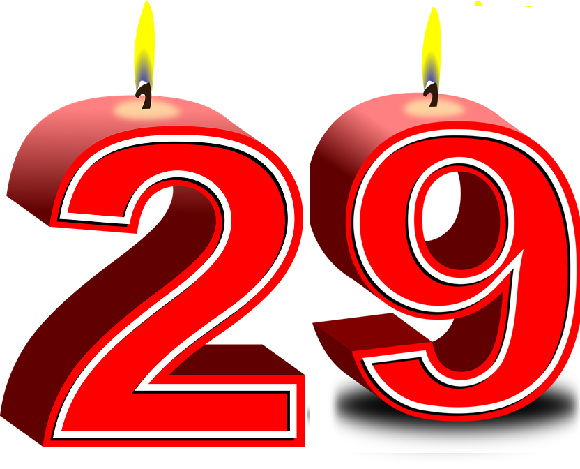 Clipart of number 29 red vector free stock Your birthday number is a way to unlock your fortune. vector free stock