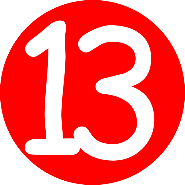 Clipart of number 29 red clipart royalty free library Number 13 Cliparts | Free download best Number 13 Cliparts on ... clipart royalty free library