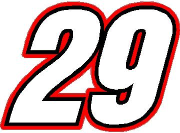 Clipart of number 29 red black and white 29 Race Number Switzerland Inserant Font Decal / Sticker 3 color black and white