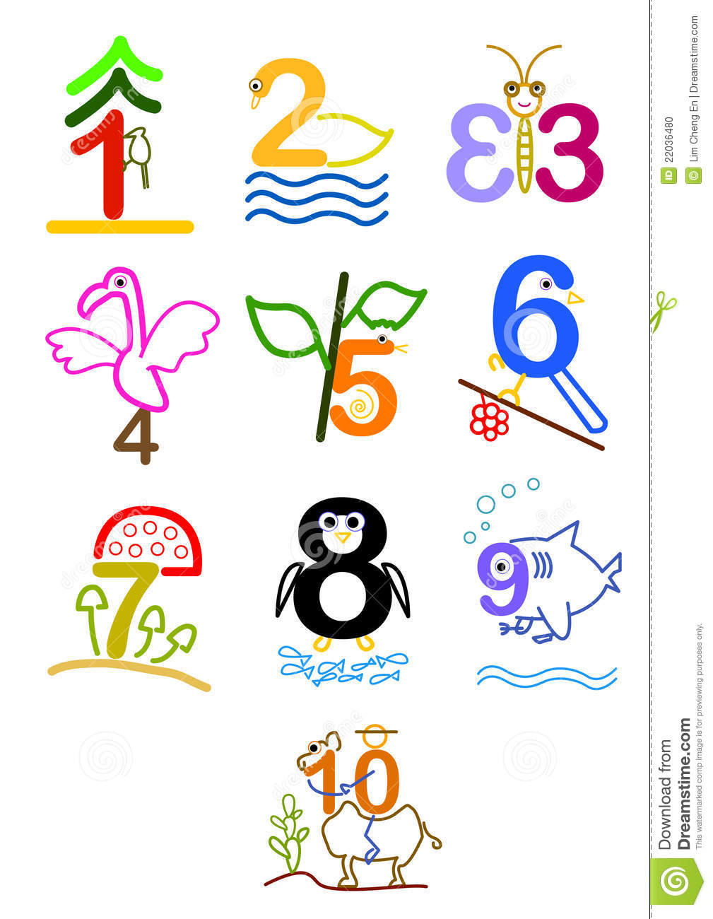 Clipart of numbers 1 10 svg freeuse library Number 1 - 10 Stock Photo - Image: 22036480 svg freeuse library
