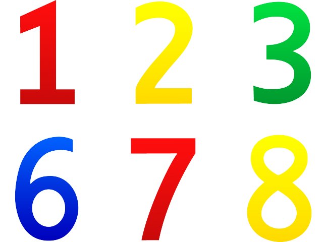 Clipart of numbers 1 10 png transparent stock Numbers 1-10 Cliparts 3 - 360 X 393 | carwad.net png transparent stock