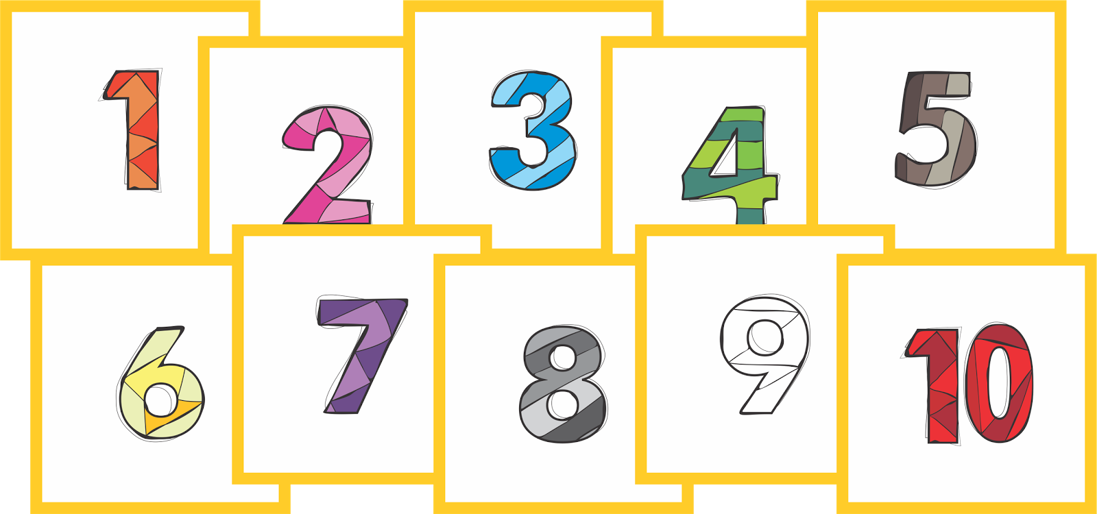 Clipart of numbers 1 10 svg royalty free library Learn your Numbers 1-10 svg royalty free library