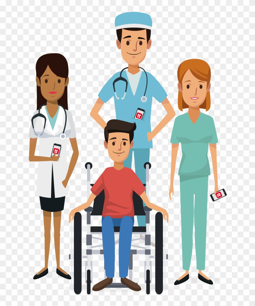 Clipart of nurses and patients library Vector Free Download Healthcare Clinical Staff Frames - Nurses And ... library