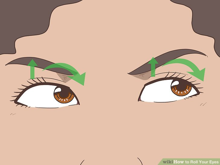 Clipart of of someone pointing to their eye svg free library How to Roll Your Eyes: 6 Steps (with Pictures) - wikiHow svg free library
