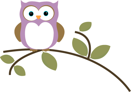 Three owls on a branch clipart cute image freeuse Free Printable Owl Clip Art | Owl on a Leafy Branch Clip Art Image ... image freeuse