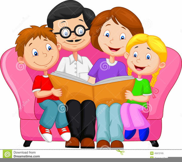 Clipart of parents and child picture freeuse download Free Clipart Of Parents Reading To Children | Free Images at Clker ... picture freeuse download