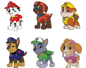 Clipart of paw patrol clip art royalty free library Paw patrol clipart | Etsy clip art royalty free library