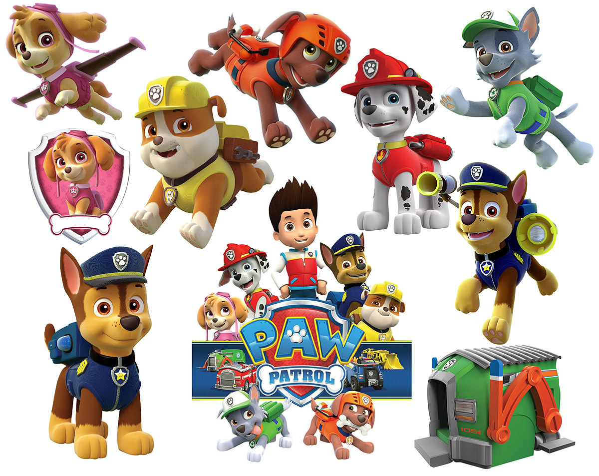 Clipart of paw patrol image royalty free Paw patrol free clipart - ClipartFest image royalty free