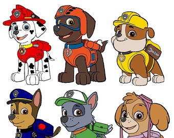 Clipart of paw patrol clip art transparent library Paw patrol clipart | Etsy clip art transparent library