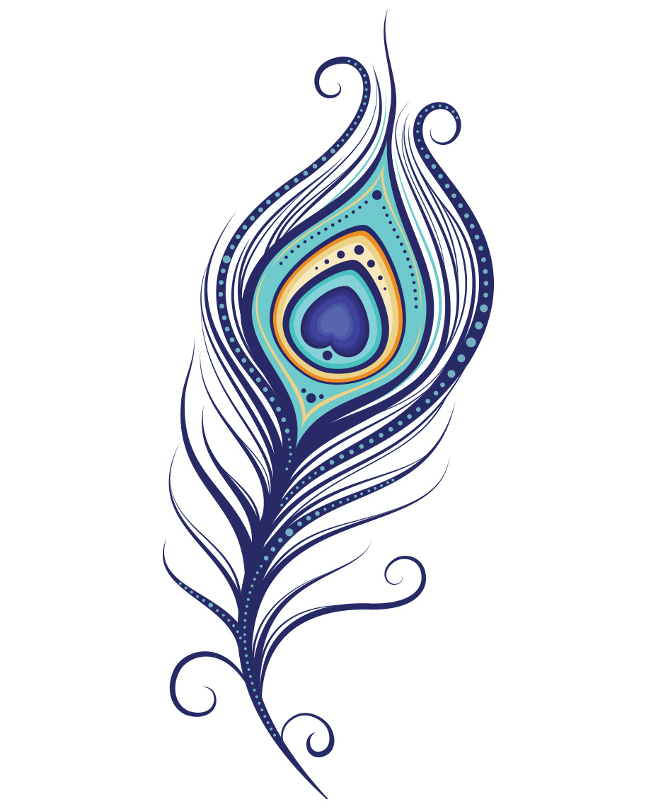 Clipart of peacock feather png library Peacock feather clipart 4 » Clipart Station png library