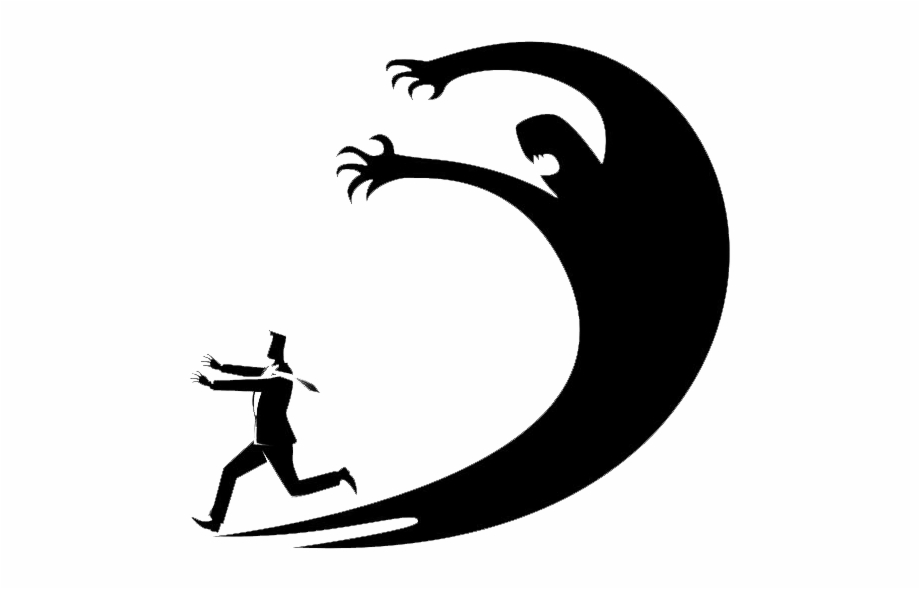 Clipart of people running to the left image free library 66635840 S Man Running From Shadow Bw Left - Disturbo Di Panico Free ... image free library