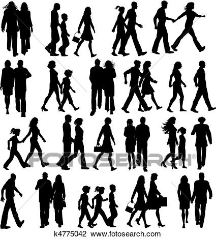 Clipart of people walking black and white People walking clipart 6 » Clipart Station black and white