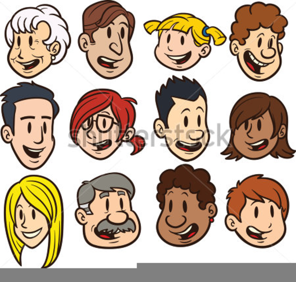 Clipart of people-s faces svg royalty free Cartoon Faces Clipart | Free Images at Clker.com - vector clip art ... svg royalty free