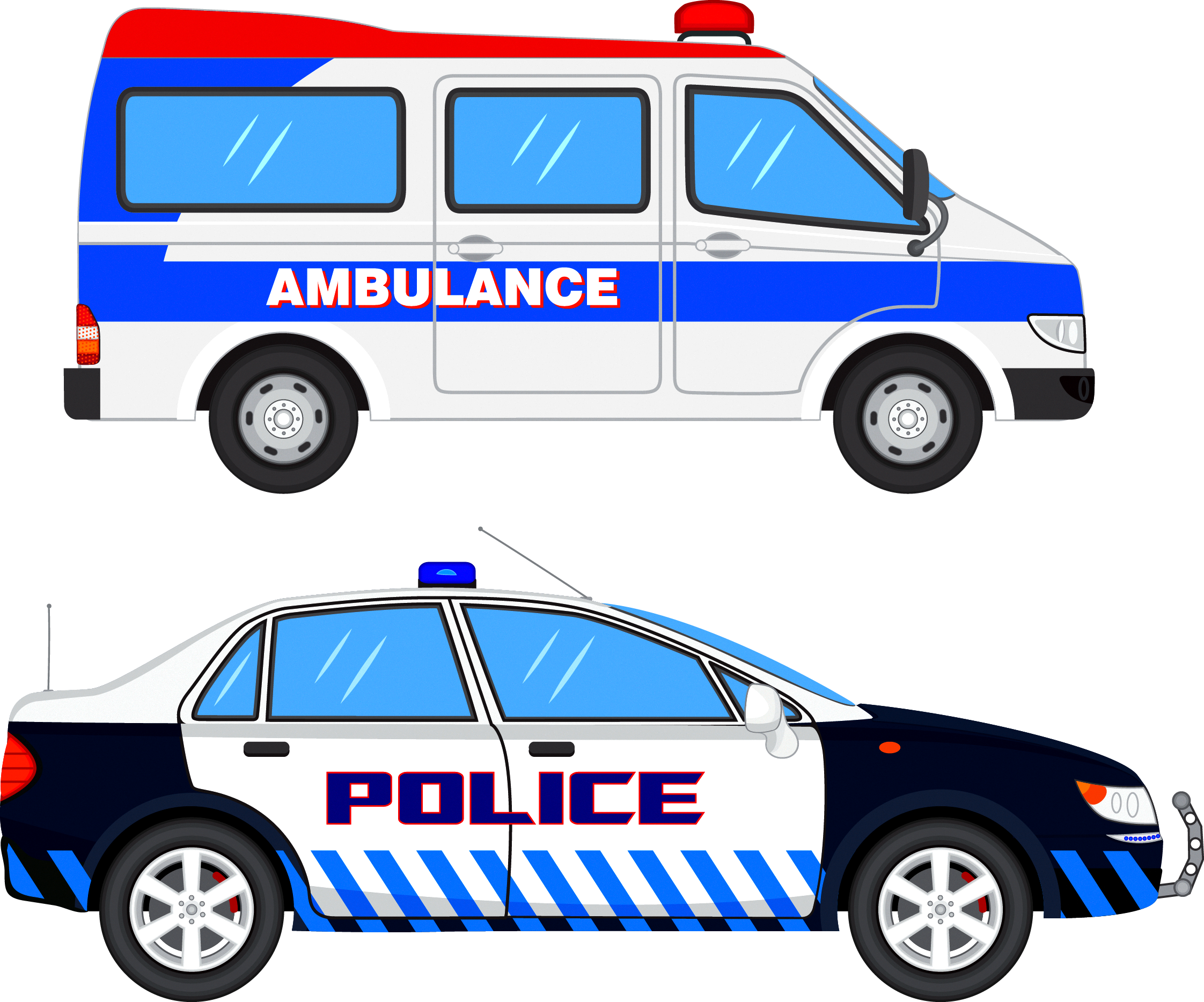 Ambulance car clipart vector freeuse stock Police car Clip art - Ambulance police car 2244*1868 transprent Png ... vector freeuse stock