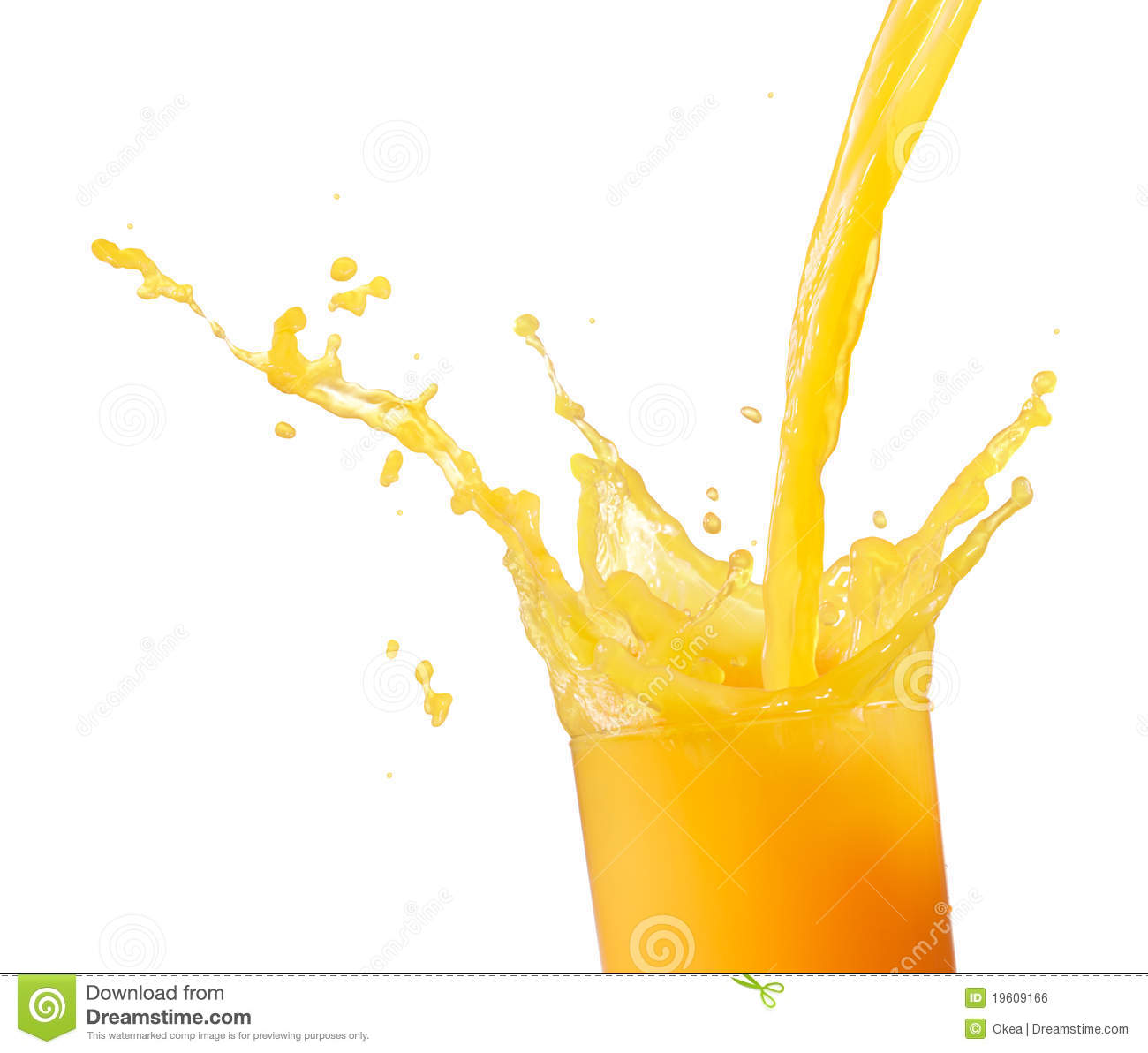Clipart of pouring juice in a cup