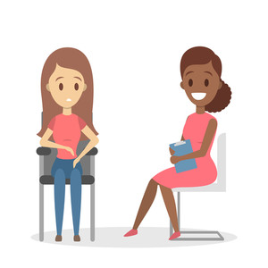 Clipart of psychologist woman with woman patient png freeuse library Woman talking to psychologist Royalty-Free Stock Image - Storyblocks ... png freeuse library