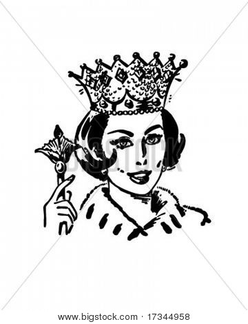 Clipart of queen royalty free stock Queen Of The Household - Retro Clip Art Stock Vector & Stock ... royalty free stock