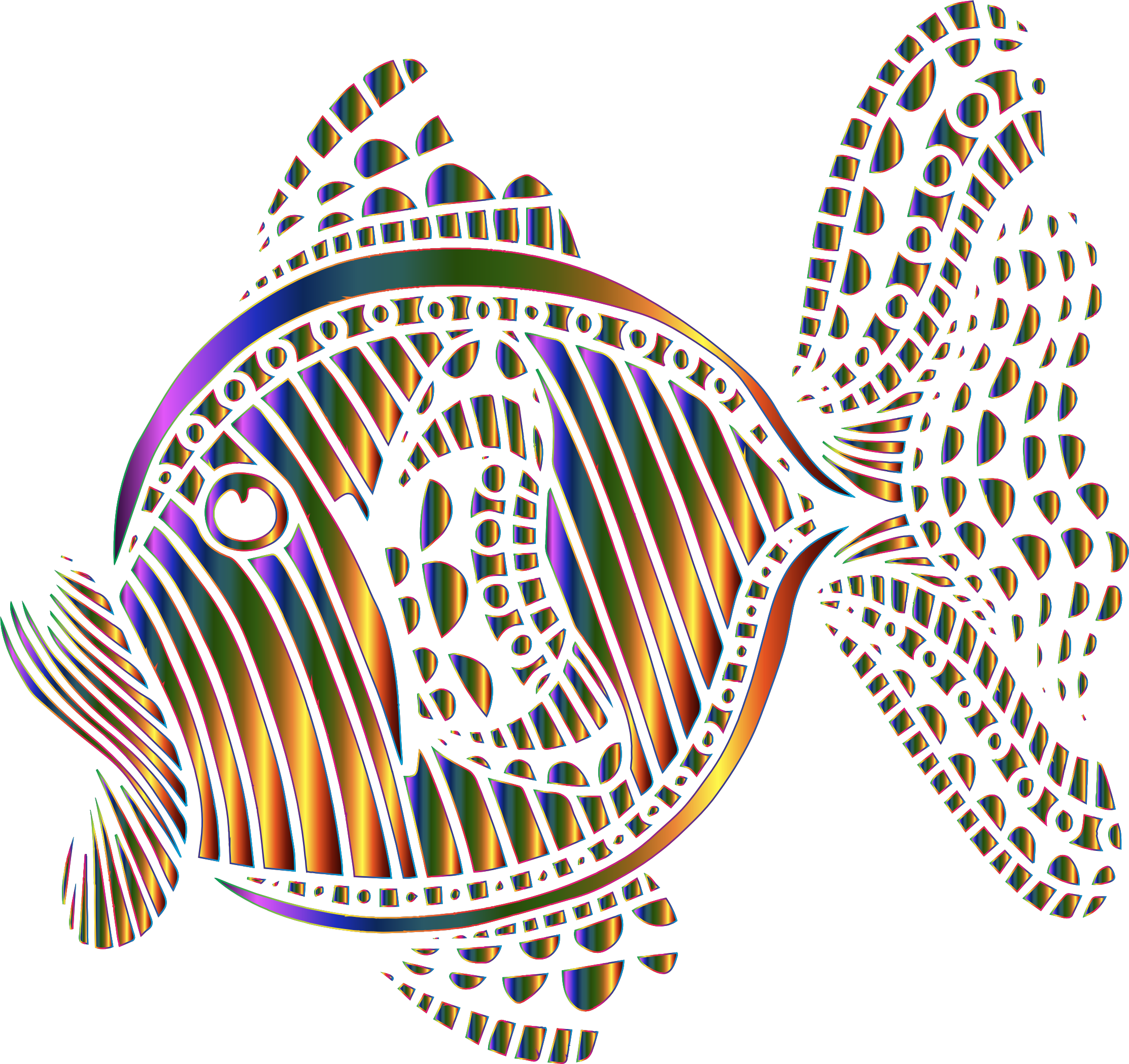 Clipart of rainbow fish png royalty free download Clipart - Abstract Colorful Fish 9 png royalty free download