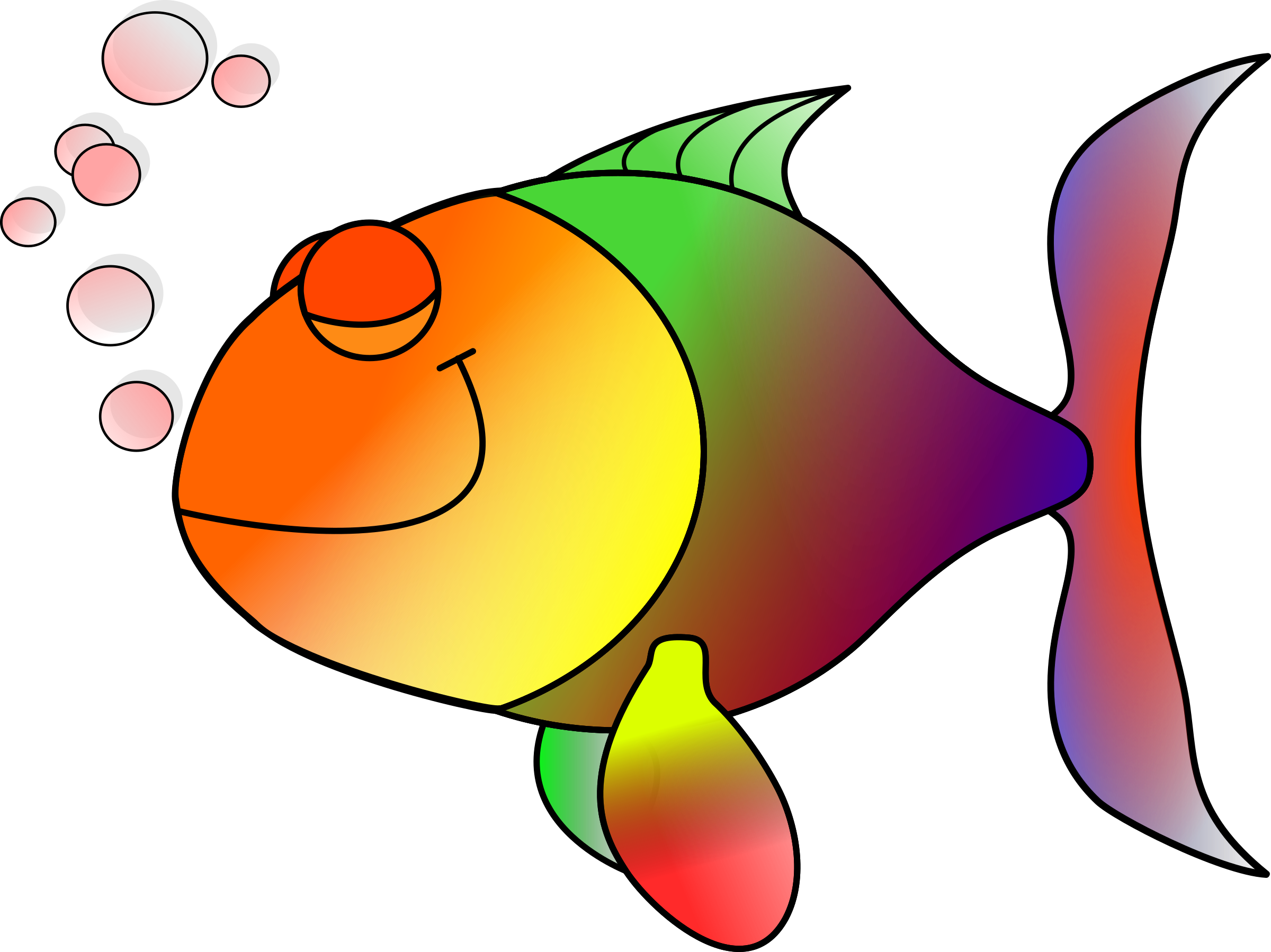 Transparent fish clipart vector freeuse Clipart - Happy fish happily asleep vector freeuse