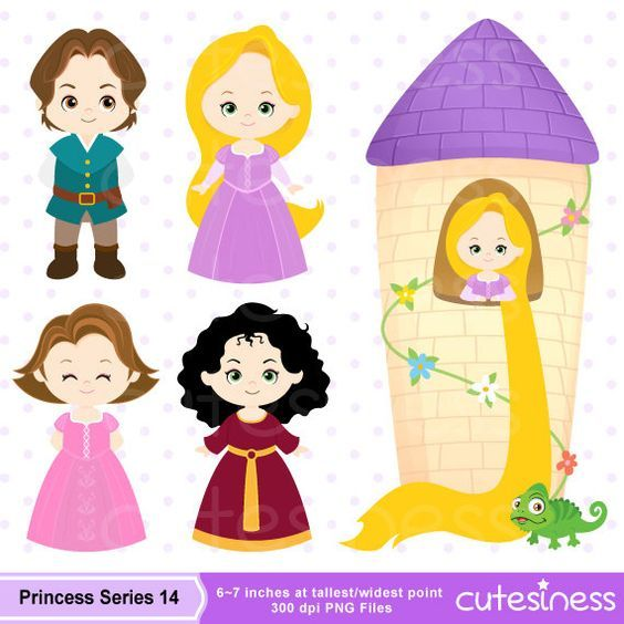 Clipart of rapunzel png royalty free library Princess Digital Clipart Princess Clipart Rapunzel by Cutesiness ... png royalty free library