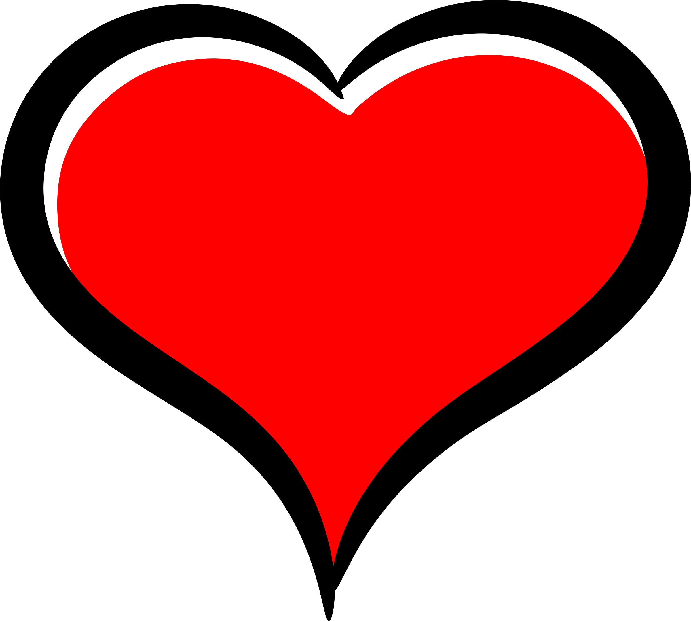 Clipart - Red heart transparent download