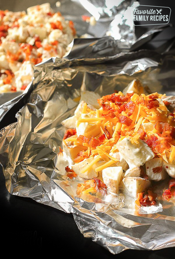 Clipart of roasted peppers mashed potatoes with zuccini download Grilled Ranch Potatoes in Foil | Favorite Family Recipes download