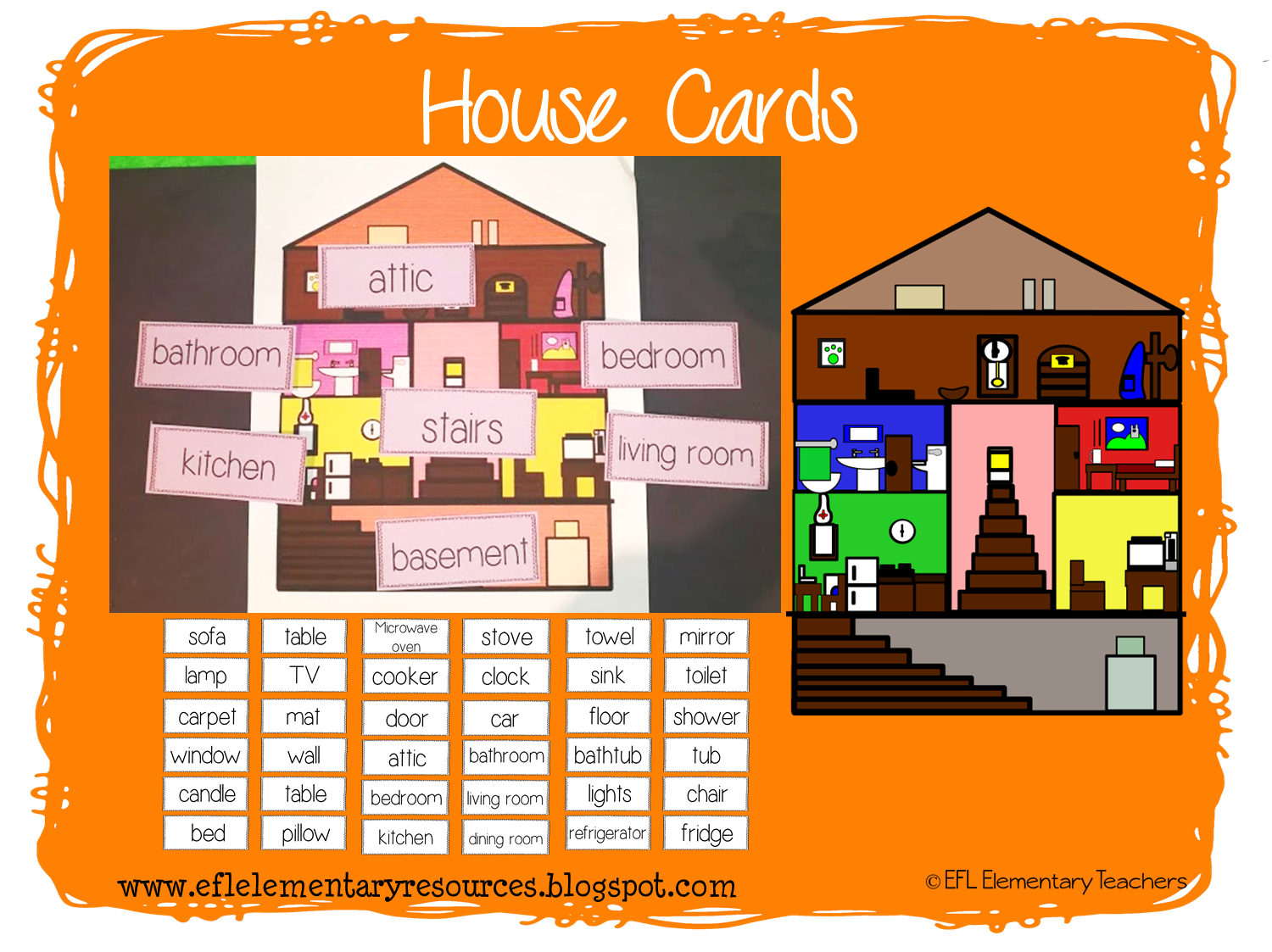 EFL Elementary Teachers: House Theme Resources for Elementary ELL clip art freeuse download