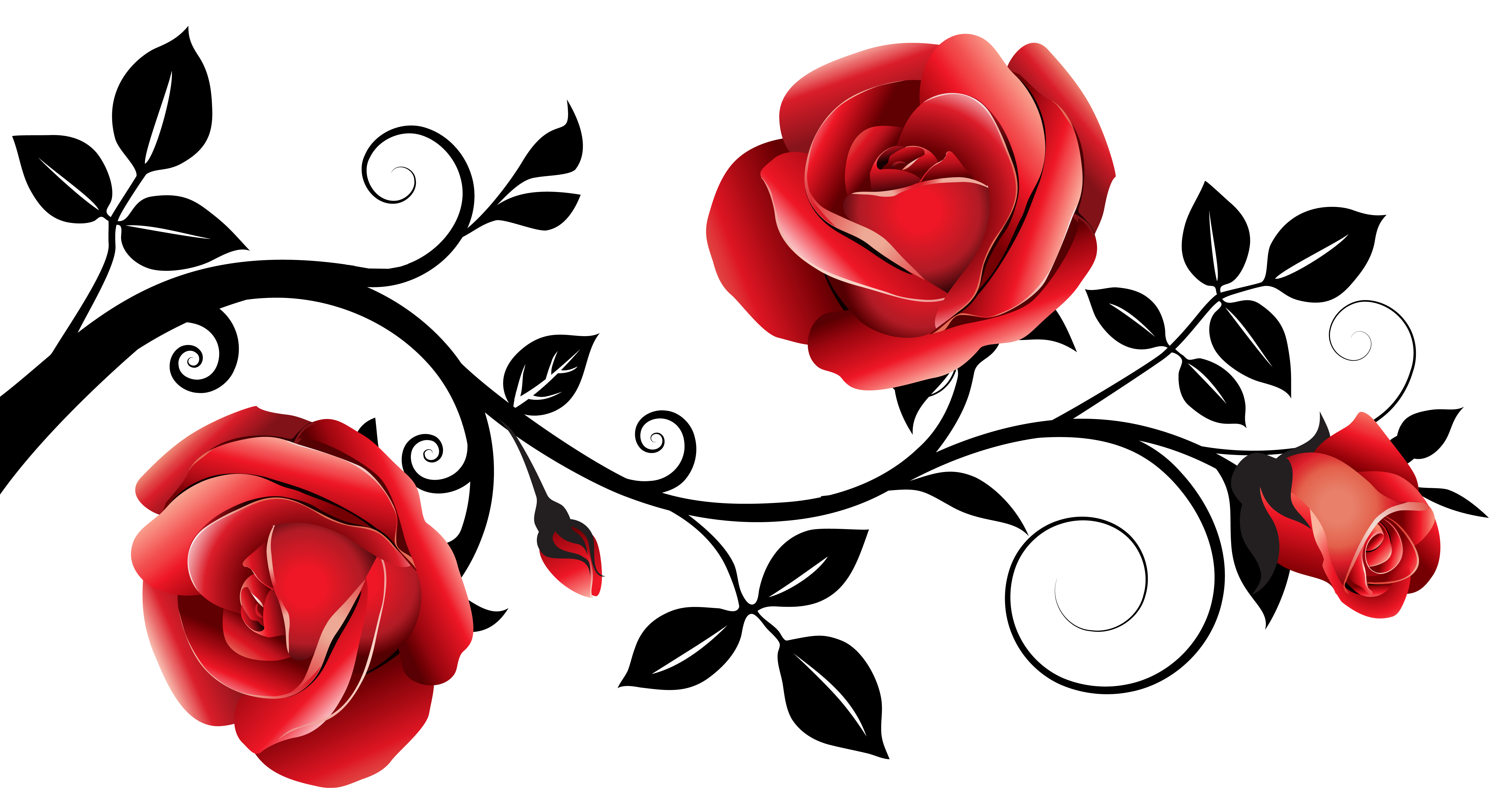Clipart of rose flower image free Red and Black Decorative Roses PNG Clipart Image | Gallery ... image free
