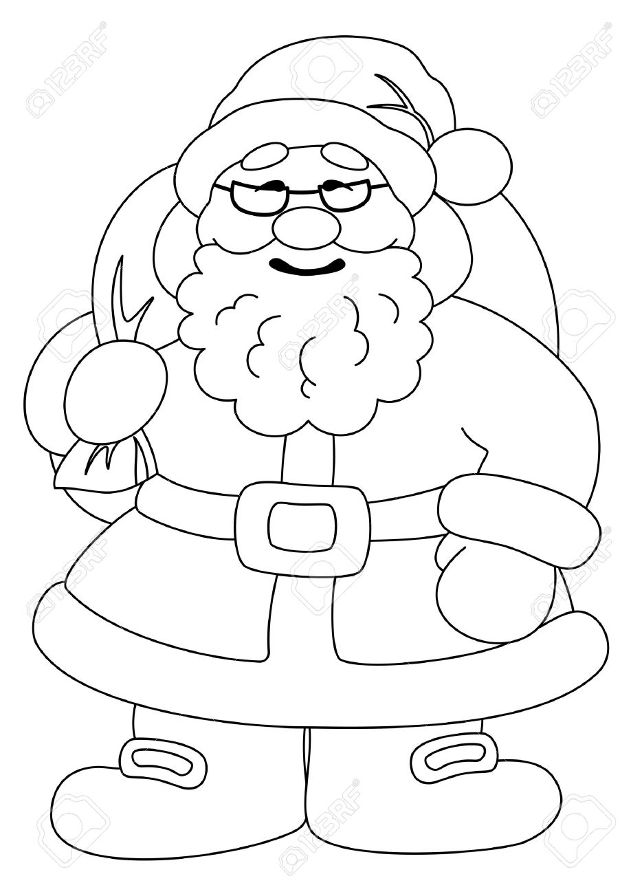 Clipart of santa claus black and white banner freeuse download Santa claus black and white clipart 4 » Clipart Station banner freeuse download