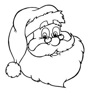 Clipart of santa claus black and white clip black and white download 77+ Santa Clipart Black And White | ClipartLook clip black and white download