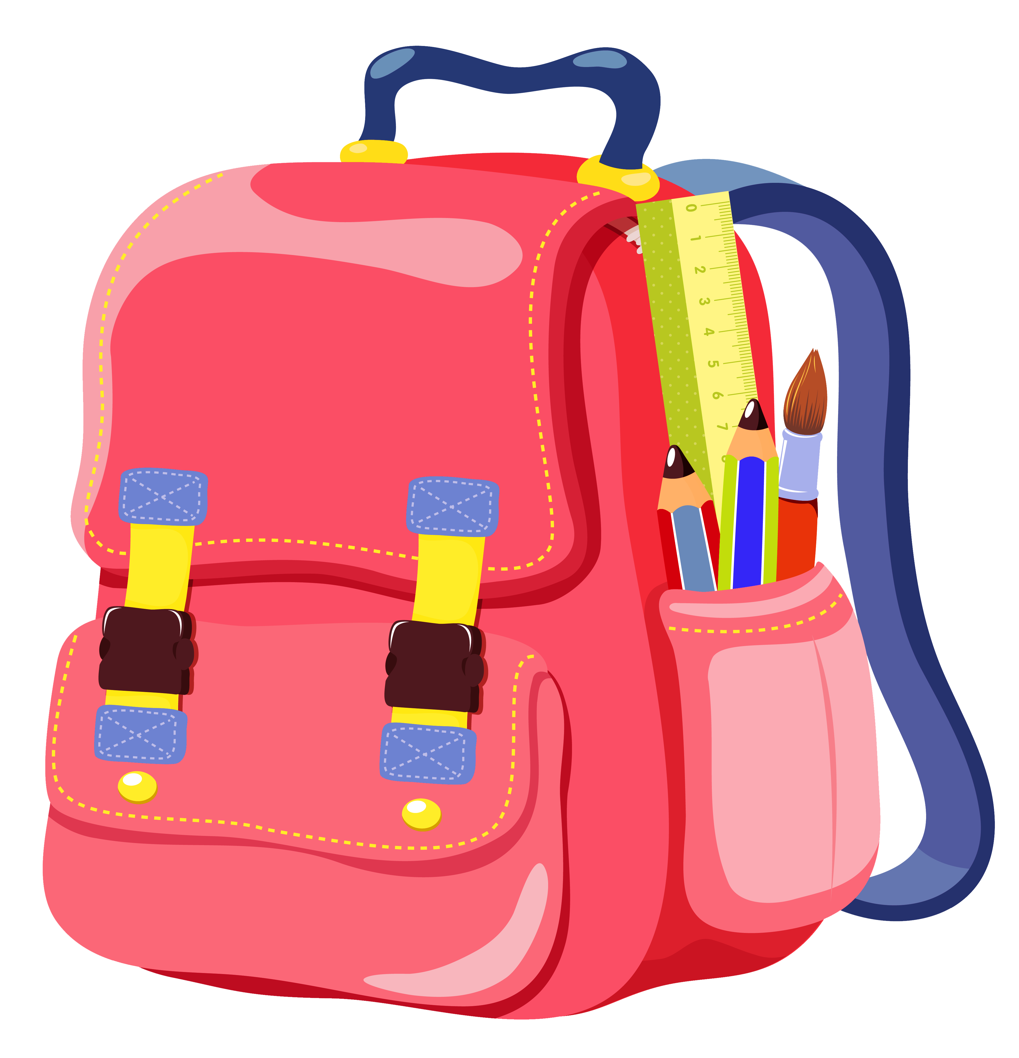 School bag clipart clip art black and white download Bag School Satchel Backpack Online shopping - School Backpack PNG ... clip art black and white download