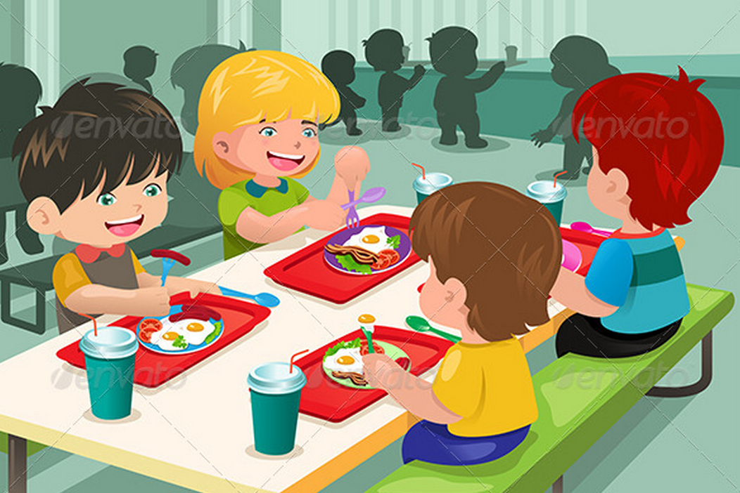 Clipart of school children getting their lunch clip art transparent stock Cartoon kids eating at lunch table | 2D Graphics in 2019 | School ... clip art transparent stock