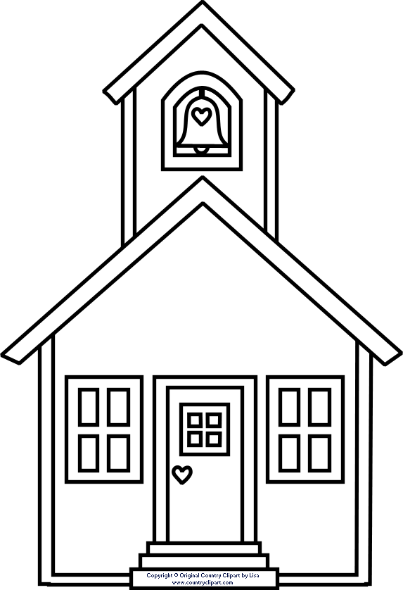 Clipart school house image transparent download 10 School House Coloring Sheet - Osnut Coloring Images image transparent download