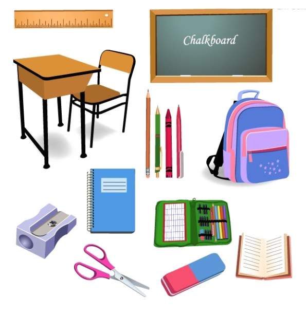 Clipart school supplies banner black and white download Student School Classroom Object Clip art - School supplies texture ... banner black and white download