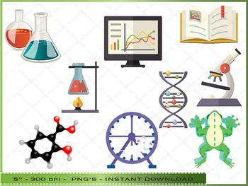 Clipart of science stuff banner freeuse download Science Digital Clipart - Scientific Images / Personal And Commercial Use banner freeuse download