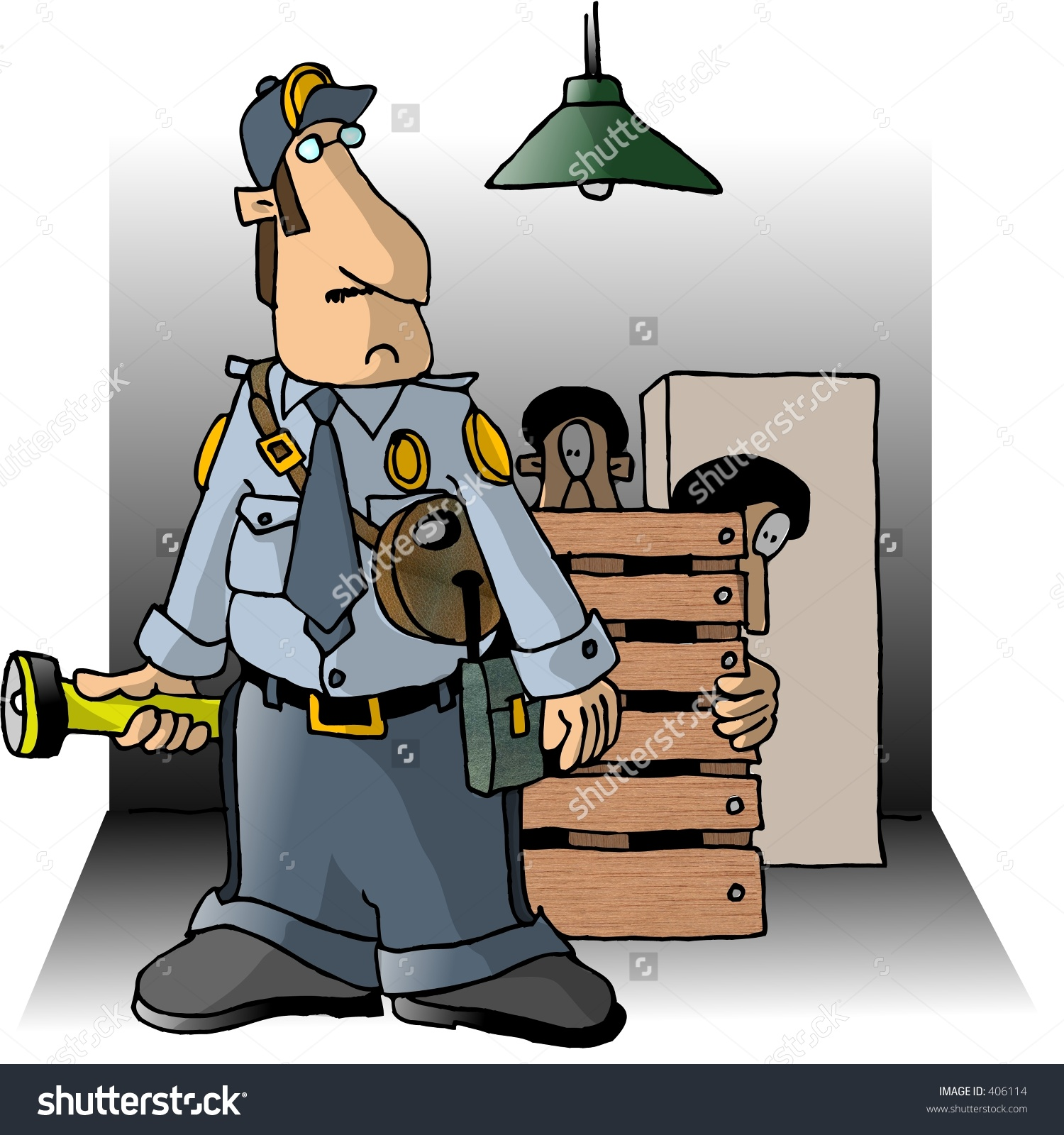 Clipart of security guard vector stock Clipart Illustration Of A Security Guard - 406114 : Shutterstock vector stock