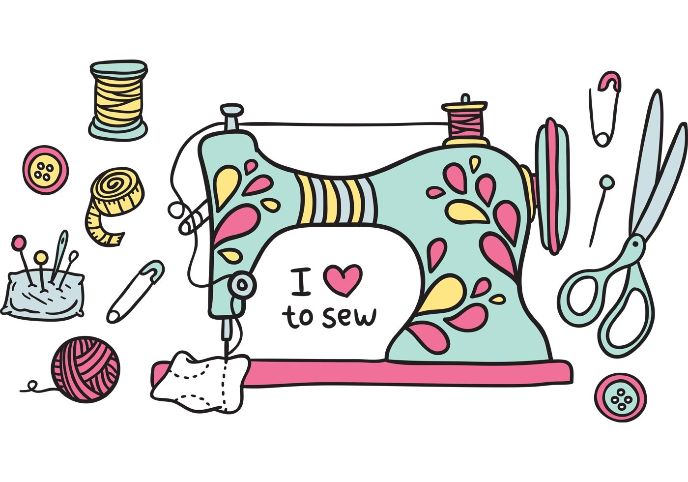 Sewinges clipart svg royalty free stock Free clipart sewing machine - ClipartAndScrap svg royalty free stock