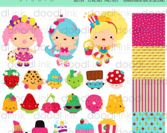 Clipart of shopkins image freeuse download Shopkins clipart | Etsy image freeuse download
