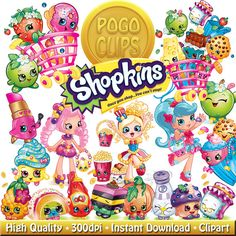 Clipart of shopkins picture library 30 Shopkins Food Fair Characters / Clip Art DIY Instant Download ... picture library
