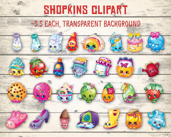 Clipart of shopkins clip art royalty free stock Shopkins clipart | Etsy clip art royalty free stock